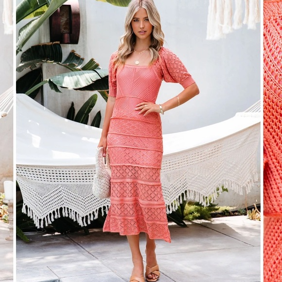 Vici *NWT* best seller coral dress